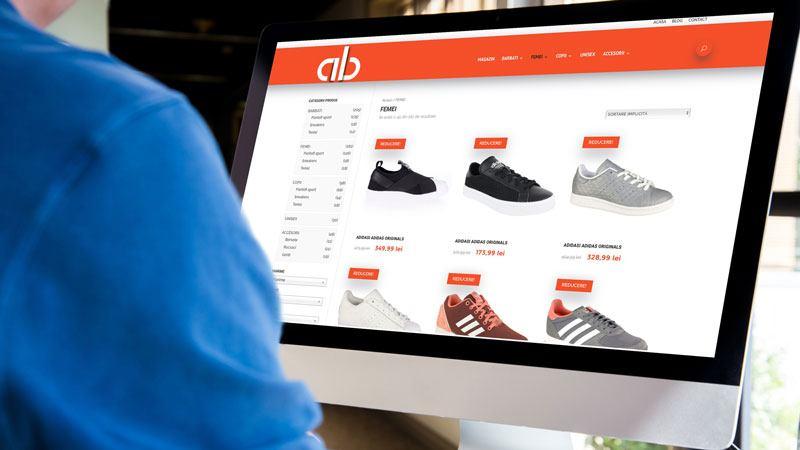 Wedesign personalizat - Magazin online Adidasi Biz