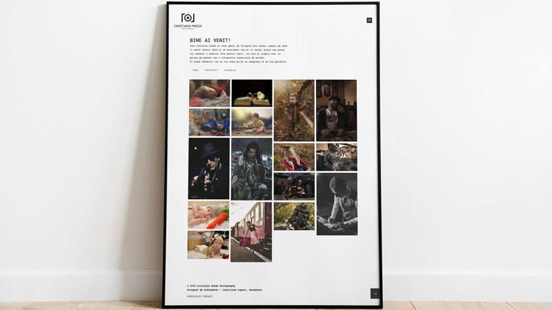 Wedesign personalizat - site de prezentare Cristian Preda Photography
