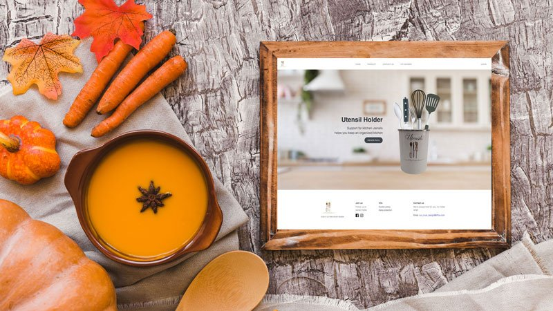 Wedesign personalizat - site de prezentare Cutandcrustdesign