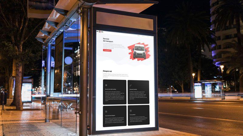 Wedesign personalizat - site de prezentare Summertrans