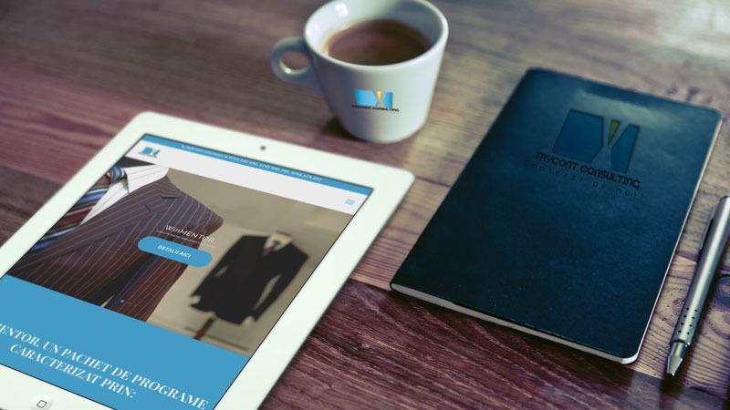 Wedesign personalizat - site de prezentare Trycont