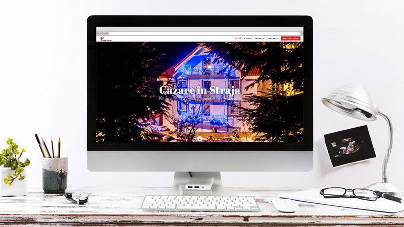 Wedesign personalizat - site de prezentare Vila Petre Straja